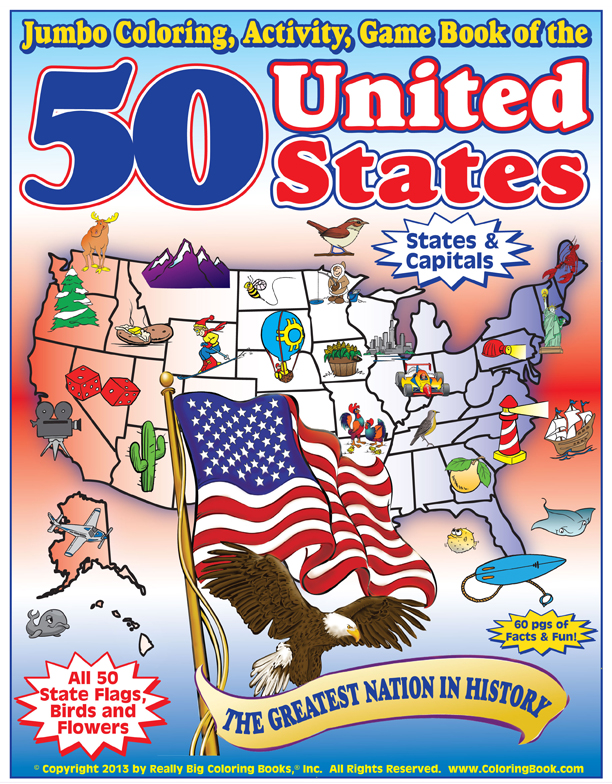 Coloring Book Publishers | 50 United States Coloring, Game ...