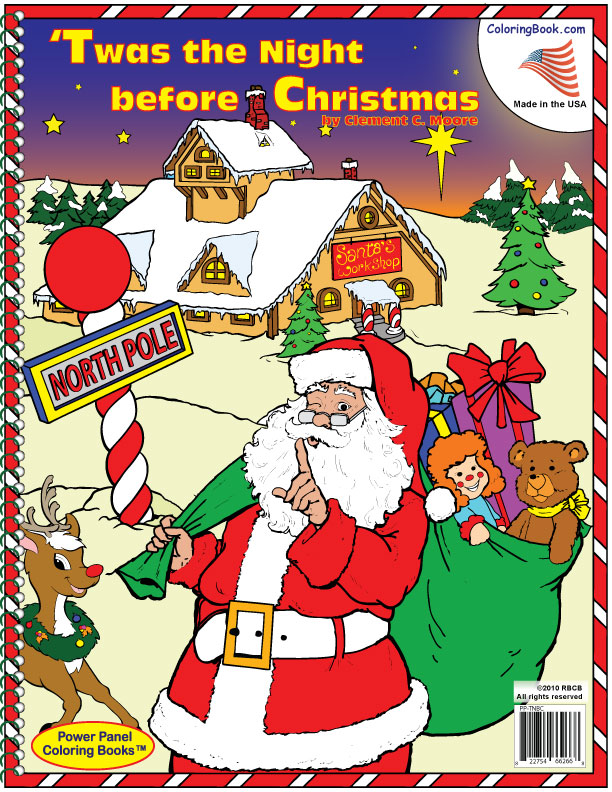 Coloring Book Publishers Twas The Night Before Christmas