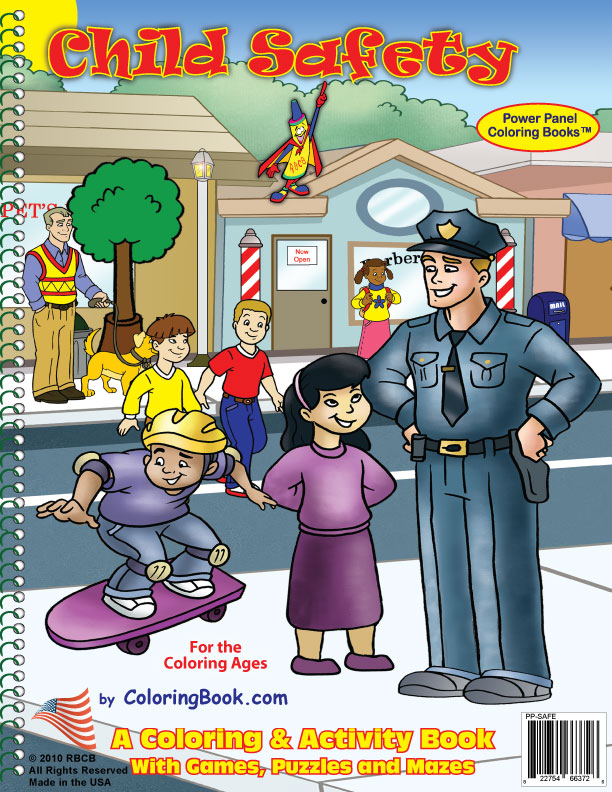 Look both ways health and safety color page, education school ... | 792x612