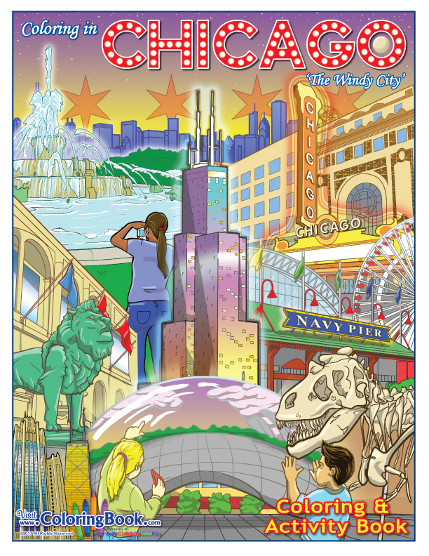 Chicago The Windy City Coloring Book