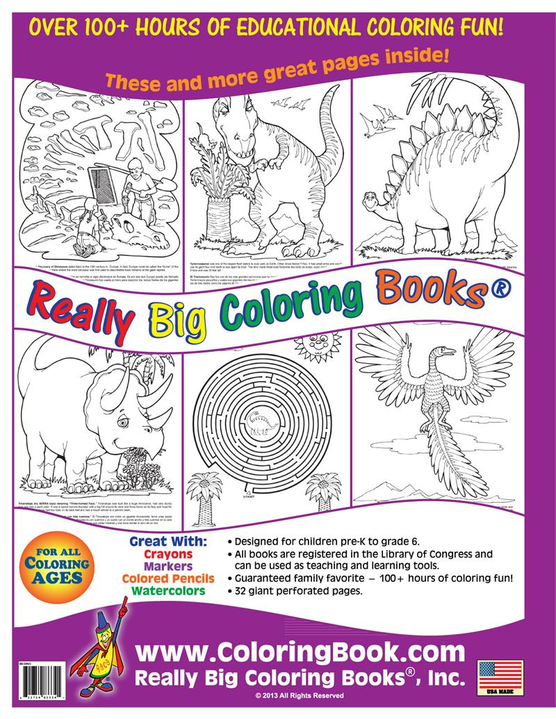 dinosaurs big coloring book 175x23 - Coloring Book Publishers
