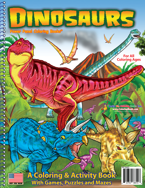 dinosaurs coloring book 85x11 - Coloring Book Publishers