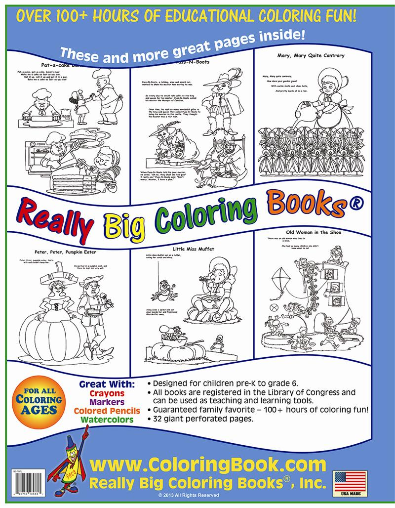 Coloring Book Publishers Fairy Tales Nursery Rhymes