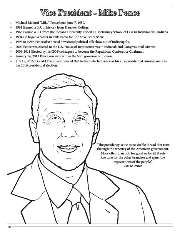 president donald trump vice president mike pence coloring book 85 x 11 - Barack Obama Coloring Book