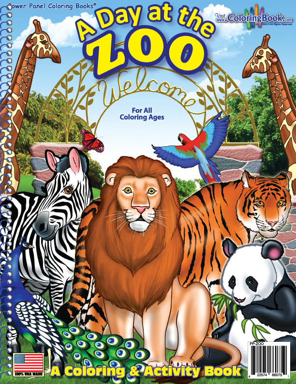 Zoo animals coloring book 8 5x11