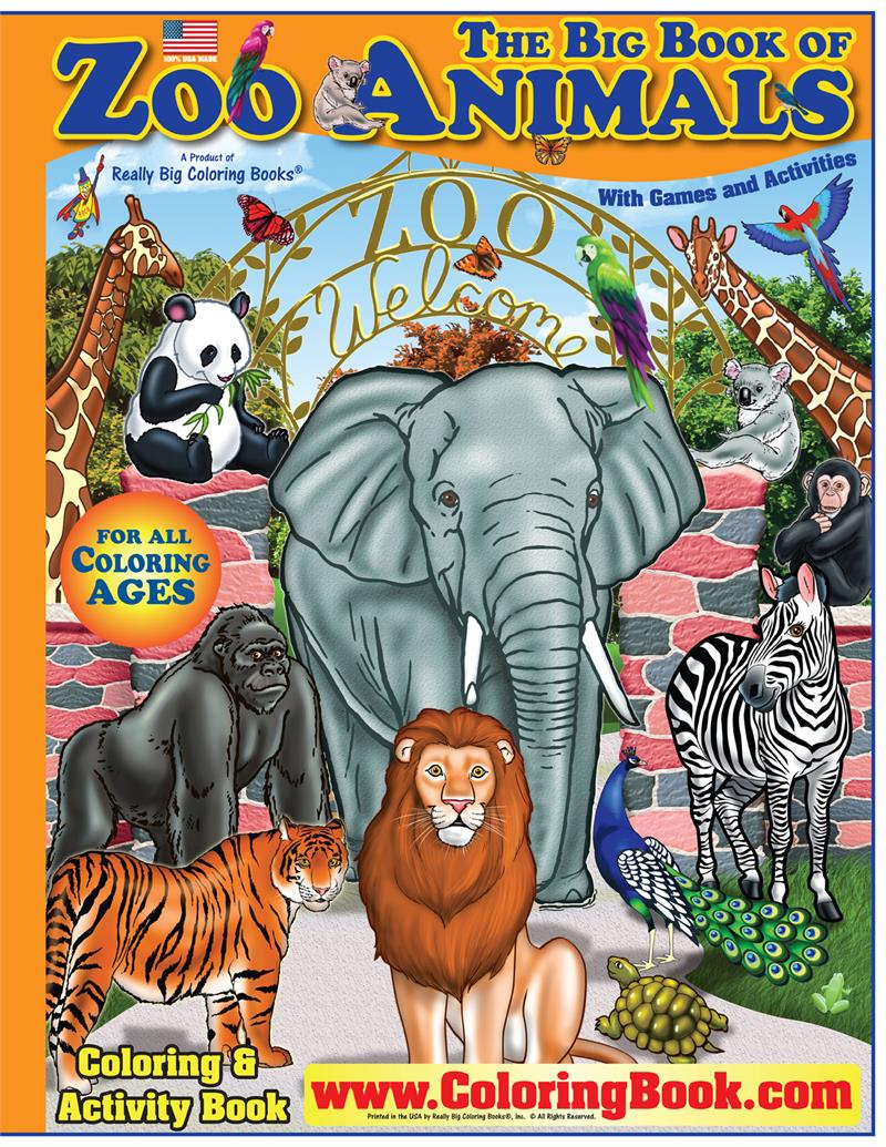 Zoo Animals Big Coloring Book - Coloring Book Publishers