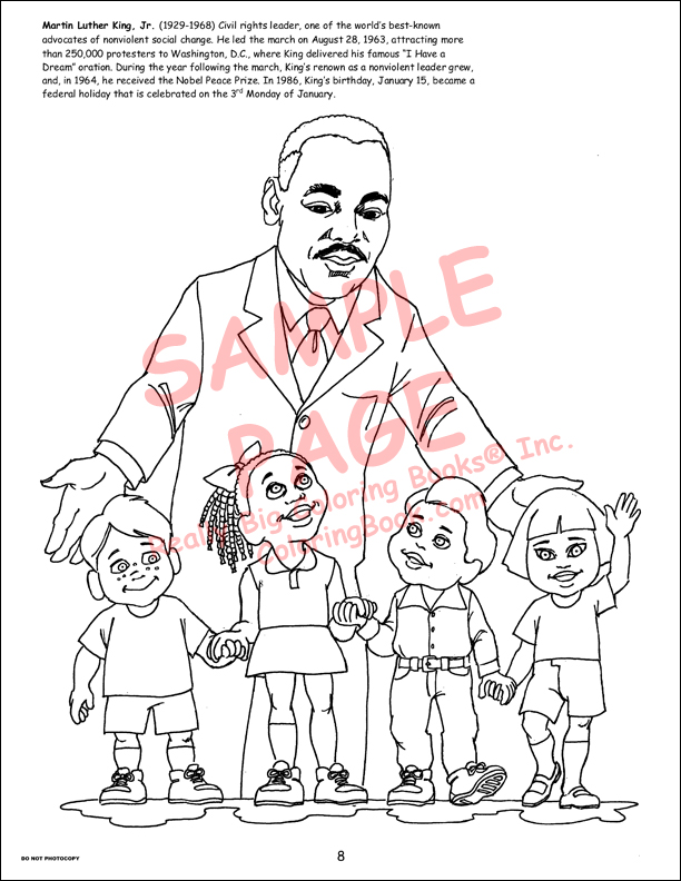 Coloring Book Publishers | African American Leaders Big Coloring Book