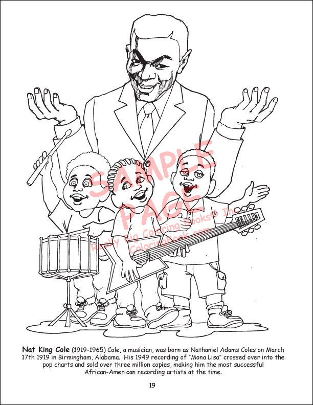 Coloring Book Publishers | African American Leaders Coloring Book