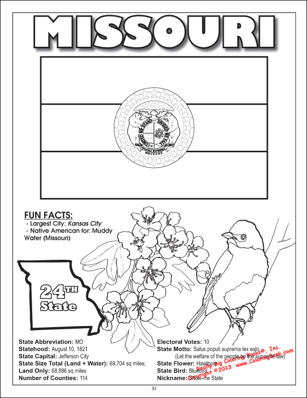 88 Coloring Pages State Birds