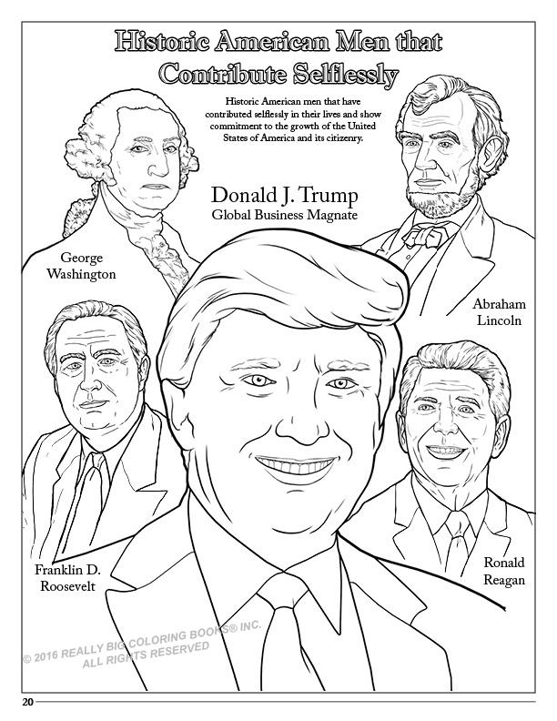 Trump Coloring Book Donald Trump Coloring Book Comic