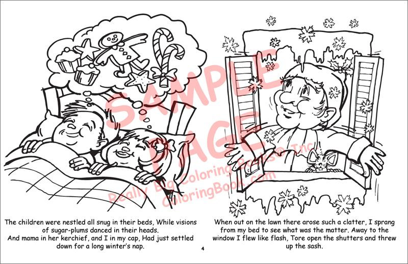 Coloring Book Publishers   Twas the Night Before Christmas LapTop ...