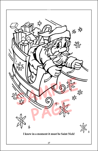 Twas The Night Before Christmas Coloring Book Publishers