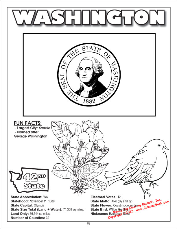 missouri coloring page washington state coloring
