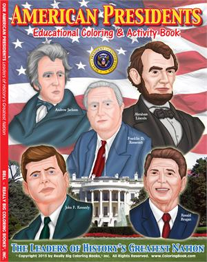 American Presidents Coloring & Activity Book