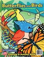 Birds, Butterflies and Bugs Coloring Book