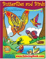Butterflies and Birds Big Coloring Book