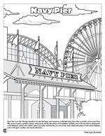 Chicago 'the Windy City' Coloring Book - Navy Pier