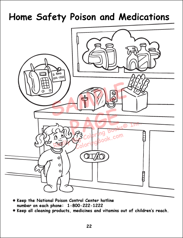 home safety coloring sheets