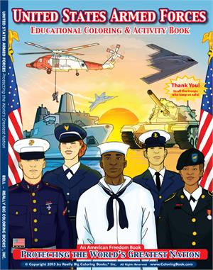 U.S. Military Armed Forces Coloring & Activity Book