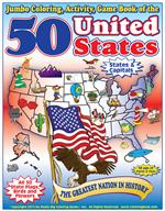 50 United States Coloring Book