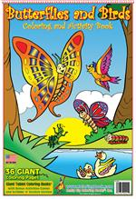 Butterflies and Birds Coloring Book