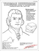 Jefferson Coloring Page