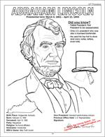 Lincoln Coloring Page