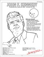 Kennedy Coloring Page